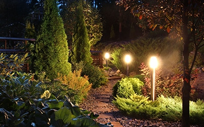 landscaping night lighting